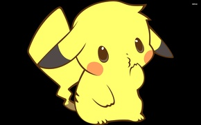 Картинка желтый, удивление, пикачу, покемон, pokemon, pikachu