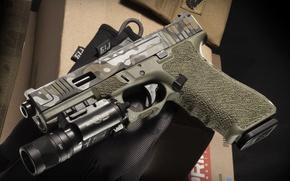 Обои пистолет, оружие, Glock 17, австрийский, самозарядный