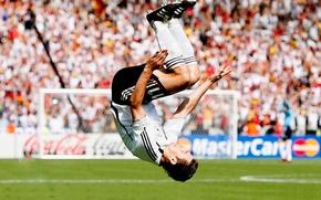 Картинка футбол, Германия, Germany, football, сальто, soccer, Deutschland, Gool, World Cup, Miroslav, Klose