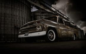 Картинка фон, Chevrolet, Шевроле, пикап, передок, Truck, Pickup