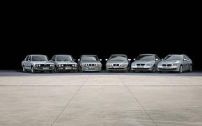 Обои машины, тачки, ряд, bmw cars