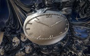 Картинка абстракция, часы, цвет, форма