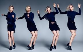 Картинка платье, Diane Kruger, движения, MyTheresa