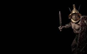 Картинка доспехи, шлем, щит, гладиатор, Мурмиллон, Murmillo