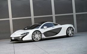 Картинка McLaren, Белый, Карбон, Диски, Wheelsandmore
