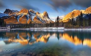 Картинка лес, река, природа.горы