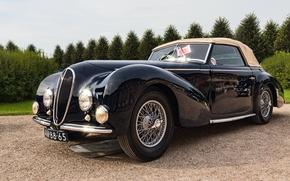 Обои ретро, классика, Delahaye, 1946 Delahaye 135M Cabriolet