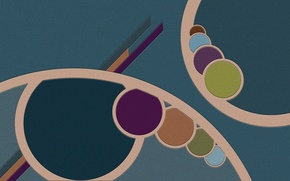 Картинка круги, абстракция, ретро, полосы, текстура