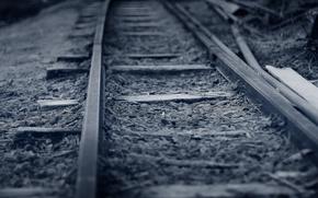 Картинка макро, фон, железная дорога
