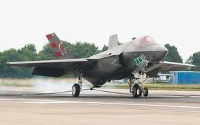 Картинка истребитель, бомбардировщик, Lightning II, F-35C, Lockheed Martin
