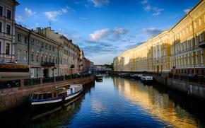Картинка город, улица, здания, канал, street, Town, canal