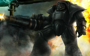 Картинка Brother of steel, fallout, fan art, броня, warhammer 40000, warhammer 40k, wh40k