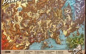 Картинка map, Borderlands, detailed, East Coast, Pandoras