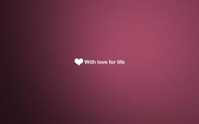 Картинка любовь, фон, сердце, рабочий стол, розовое