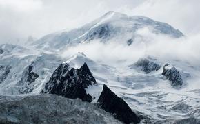 Обои Горы, зима, снег, вершина