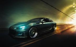 Обои Subaru, Light, Car, Speed, Sport, BRZ, Stance, Low, Wheels, by Marcin Borycki