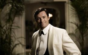Картинка улыбка, актер, мужчина, шрам, хью джекман, hugh jackman, белый костюм