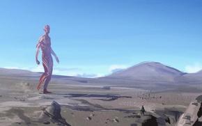 Картинка небо, пейзаж, anime, Attack on Titan, Shingeki no Kyojin, titan