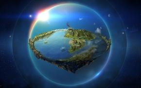 Картинка карта, фэнтези, Земля, Властелин Колец, The Lord of the Rings, John Ronald Reuel Tolkien, map, ...