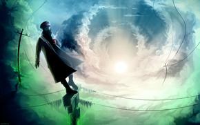 Картинка Небо, Капитан, Romantically Apocalyptic, Романтика Апокалипсиса, `alexiuss