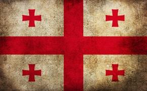 Обои флаг, грязь, Грузия