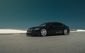 Обои VIP Modular, tuning, Lexus, low, black, car, GS430, stance