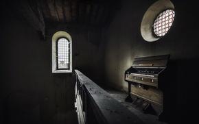 Картинка музыка, окна, орган