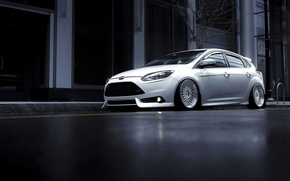 Картинка Ford, Focus, Front, Color, White, Wheels, Avant, 2015, Garde