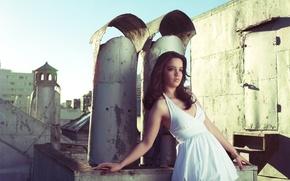 Картинка крыша, девушка, платье, фотограф, girl, photography, photographer, Brian Storey
