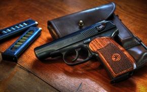 Картинка пистолет, оружие, патроны, магазин, кобура, самозарядный, Макарова
