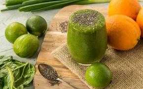 Картинка green, коктейль, фрукты, овощи, fresh, fruit, smoothie, смузи