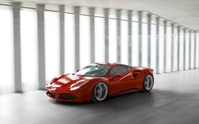 Картинка Феррари, Ferrari, Передок, 488, GTB's