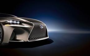 Картинка Lexus, решетка, вектор, фары, эмблема