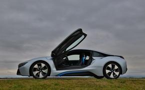 Картинка БМВ, спорткар, электромобиль, BMW i8