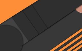 Картинка оранжевый, черный, геометрия, design, color, material