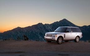 Обои горы, дорога, free pictures с машинами, range rover, 1920x1200 auto, машины, cars, тачки, пейзаж