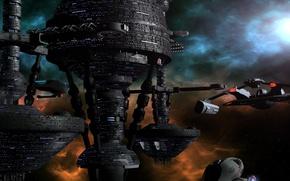 Картинка космос, звёзды, stronghold beta