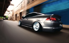 Картинка дорога, скорость, Acura, RSX
