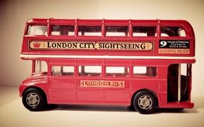 Картинка красный, игрушка, англия, лондон, автобус, bus, small, london bus