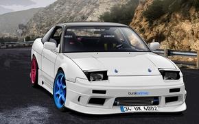 Картинка Nissan, S13, Drift Spec Vector, by Edcgraphic, 200SX