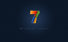 Обои windows, desktop, seven