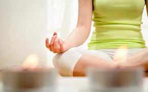 Картинка pose, candles, yoga