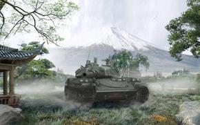 Картинка Япония, танк, Japan, танки, WoT, Мир танков, tank, World of Tanks, tanks, Wargaming.Net, BigWorld, STB-1