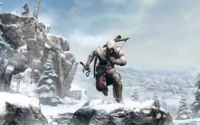 Картинка убийца, ассасин, Assassin's Creed III, Радунхагейду, Коннор, Кредо Убийцы 3