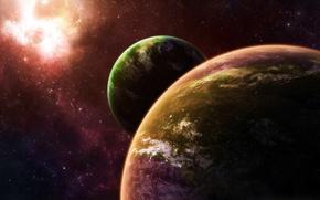 Обои вселенная, планеты, звезды