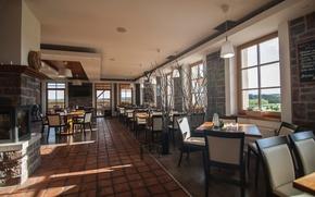 Картинка design, style, interior, restaurant, Czech Republic, hotel Krušnohorský Dvůr