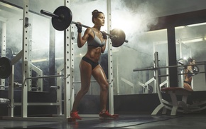 Обои workout, gym, sportswear, exercises for legs, fitness