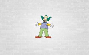 Картинка Симпсоны, минимализм, The Simpsons, Herschel Shmoikel Pinchas Yerucham Krustofsky, Клоун Красти, Krusty the Clown, Гершель …