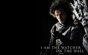 Картинка Black, Game of Thrones, 2560x1600, Jon Snow, Kit Harington