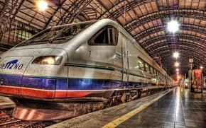 Обои Поезд, Перон, Вокзал
